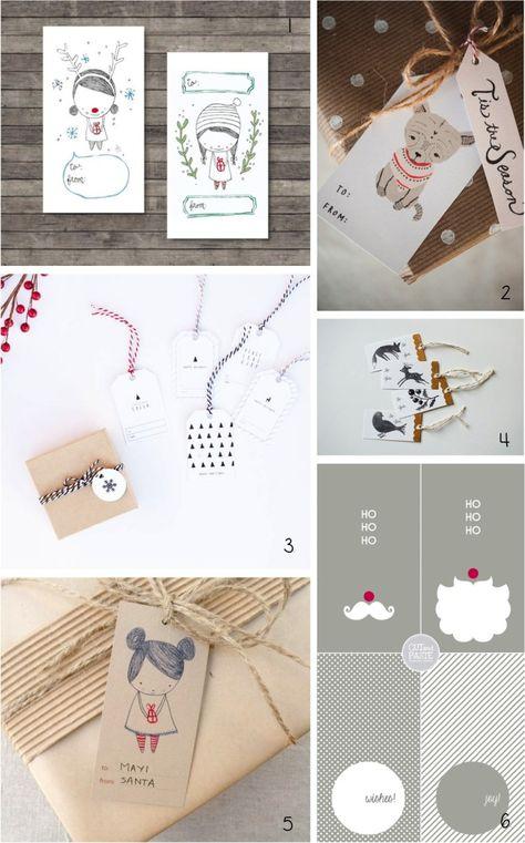 My favourite free {printable} Christmas gift tags…