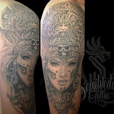 Photo Realism Tattoo Artist Near Me In 2020 Aztec Tattoo Photo Realism Tattoo Azteca Tattoo