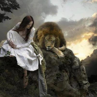 Resultado de imagen para leon con mujer  Art Prophetic art Lion of judah