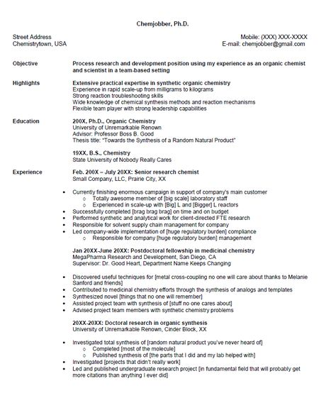 Senior Chemist Resume Sample - http\/\/resumesdesign\/senior - typist resume