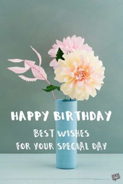 Best wishes on your special day.