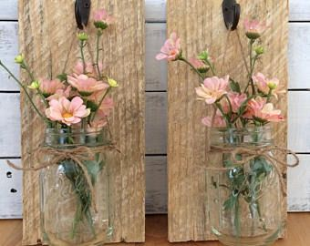 Hanging Mason Jar Sconces