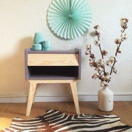 Table De Chevet Style Vintage Scandinave Fabrication