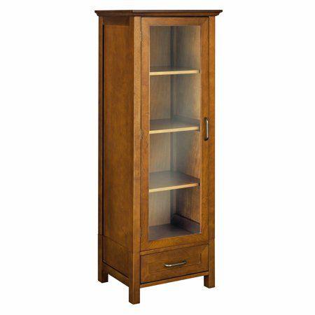 Elegant Home Fashions Calais Linen Cabinet Oil Oak Walmart Com In 2020 Linen Cabinet Linen Storage Cabinet Wood Storage Cabinets