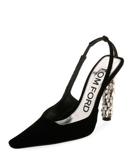 6674ee04aea Tom Ford Velvet Crystal-Heel Pumps in 2019   Fashion Inspiration ...