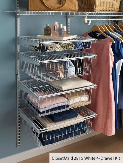 Closetmaid 4 Drawer Kit Closetmaid Has A Lot Of Options That Fit Onto Their Wire Shelving They Have A Variety Of Drawers A Closet Maid Wire Shelving Shelves