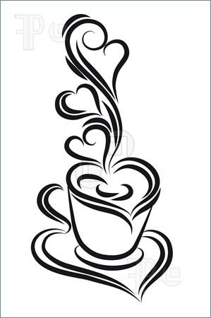 Vector Coffee Cup Background Pesquisa Google Black White Coffee Coffee Cup Art White Coffee Cups