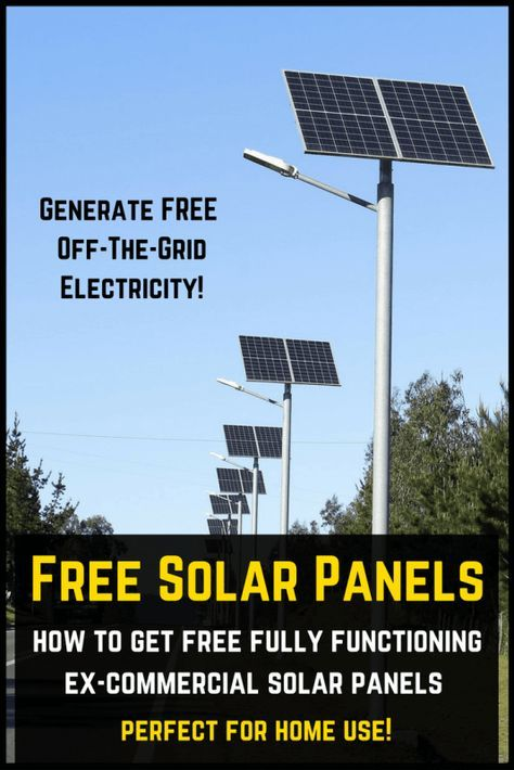 How To Get Old Commercial Solar Panels For FREE (UPDATED!)