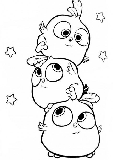 Angry Birds Hatchlings The Blues Coloring Page By Angrybirdstiff In 2020 Bird Coloring Pages Cute Cartoon Drawings Cute Doodle Art