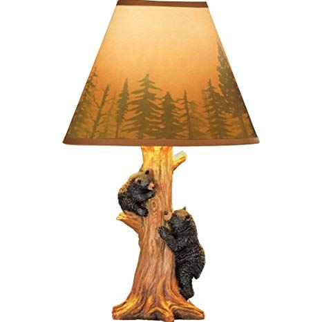 Collections Etc Rustic Climbing Bear Family Northwoods Lamp 14 3 4 H Review Lamp Cabin Decor Collections Etc