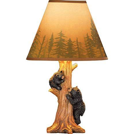 Climbing Bears Floor Lamp Log Cabin Decor Cabin Decor Black Bear Decor