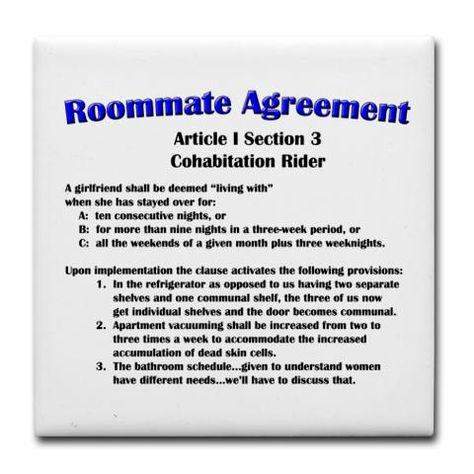 Sheldonu0027s Roommate Agreement Big Bang Theory  D Pinterest - roommate agreement