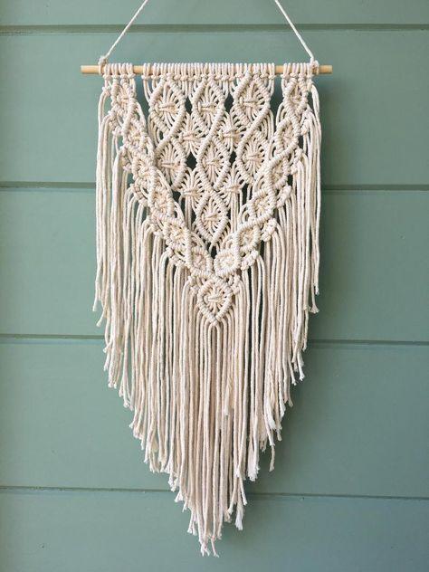 Macrame Wall Hanging Medium Sized Macrame Tapestry for | Etsy