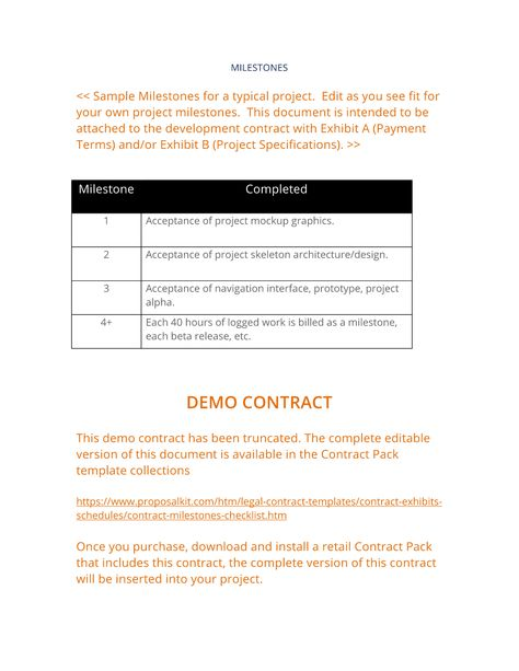 17 best Contract Exhibits and Schedules images on Pinterest - project contract templates