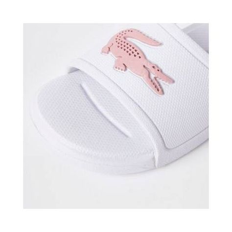 Baby Girls Lacoste White embossed