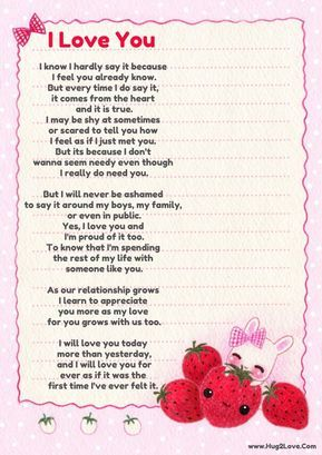 best I love you poems for her
