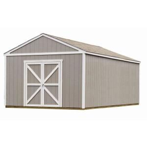 Handy Home Products Columbia 12 Ft X 12 Ft Wood Storage Building Kit With Floor 18217 4 The Home Depot Outdoor Storage Sheds Building A Shed Shed Storage