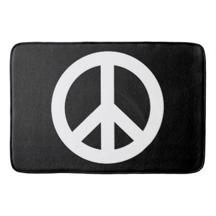 Peace Sign Bath Mat Large, Peace Sign Bathroom