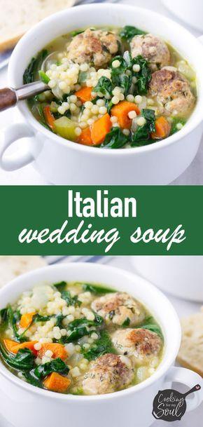 Italian Wedding Soup Recipe Italian Wedding Soup Italian Recipes Wedding Soup