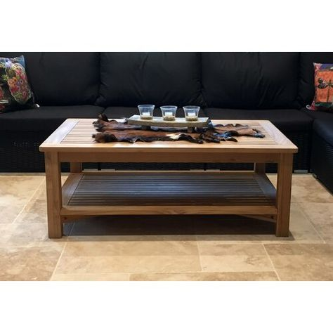 Gage Teak Coffee Table Sol 72 Outdoor Rattan Dining Table Coffee Table Steel Dining Table
