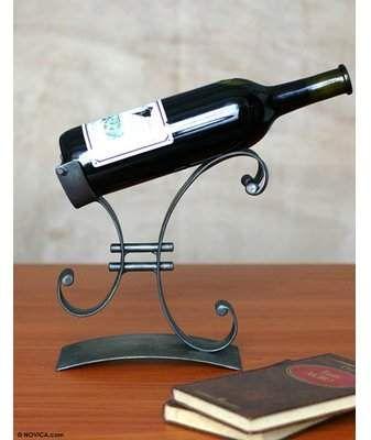 Winston Porter Decarie 1 Bottle Tabletop Wine Bottle Rack Wayfair Suporte Para Vinho Porta Vinho Decoracao De Parede Em Ferro