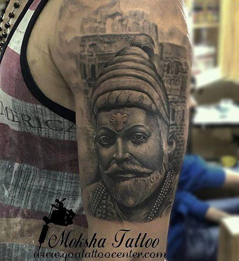 aa753d802eeb7 Shivaji Maharaj Tattoo done by Mukesh Waghela at Moksha Tattoo Studio Goa  India.