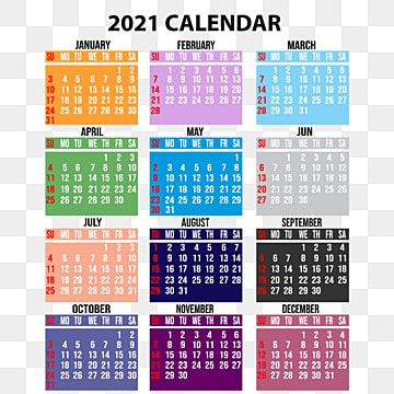 2021 Calendar With Colorful Design 2021 Calendar 2021 Calendar Png Transparent Clipart Image And Psd File For Free Download Calendar Design 2021 Calendar Calendar Design Template