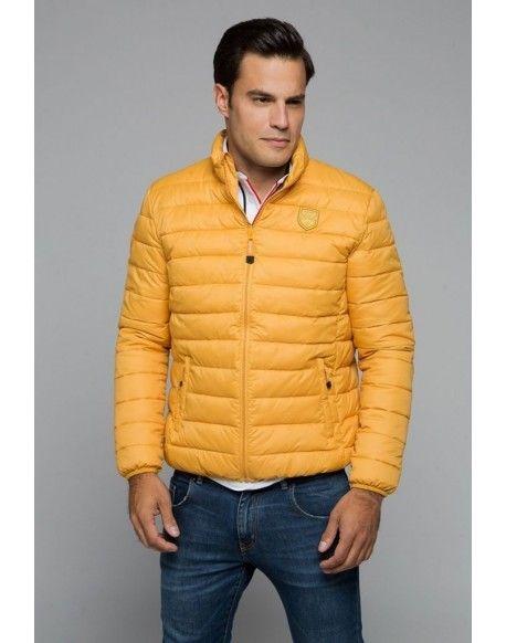 fotos nuevas Nueva York minorista en línea Valecuatro chaqueta acolchada mostaza Valecuatro hombre chaqueta ...