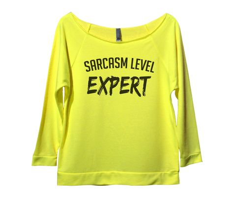 Sarcasm Level Expert Womens 3/4 Long Sleeve Vintage Raw Edge Shirt