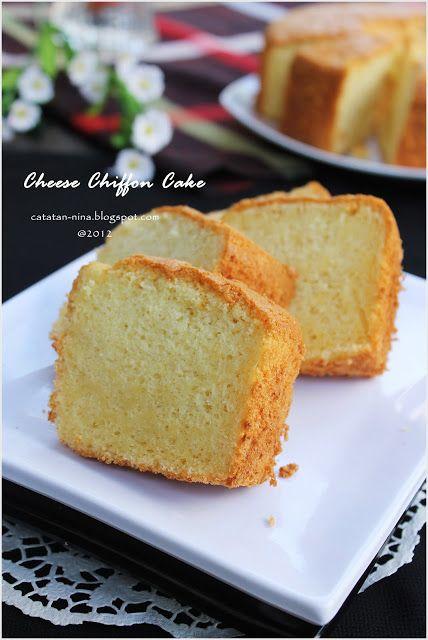 Cheese Chiffon Cake Catatan Nina Kue Chiffon Kue Lezat Memanggang Kue