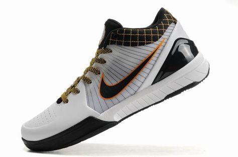 033adae832fb Nike Zoom Kobe 4(IV) White Black Yellow Shoes