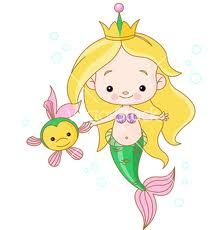 mermaid princess isolated on white vector cartoon illustration prolas da helena pinterest mermaid princess cartoon illustrations and mermaid