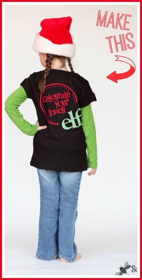 Elf Shirt - Flocked Vinyl - Sugar Bee Crafts