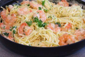 pasta scampi grädde