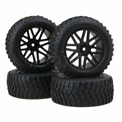 RC1:10 On Road Car Concave 10 Spoke Wheel Rims X Rubber Tyres Set of 4
