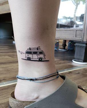 Volkswagen Van Travel Tattoo