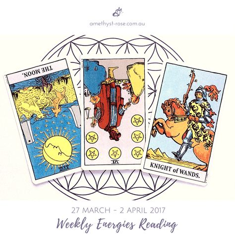 #WeeklyEnergies #WeeklyTarotReading: 27th March - 2nd April 2017  As we begin the week we are under the influence of the New Moon's energies. At this time our dreams & innermost fears & concerns will rise to the surface - readying themselves for the acknowledgement that is necessary in order for them to be released so that healing can commence...  Click image to see the whole reading.  <3 Vanda xx  #WeeklyReading #EnergyOfTheWeek #GeneralReading #Tarot  #EmailReadings #HealingWithTheTarot