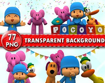 Pocoyo Clipart 80 Png 300 Dpi Transparent Background Etsy Make