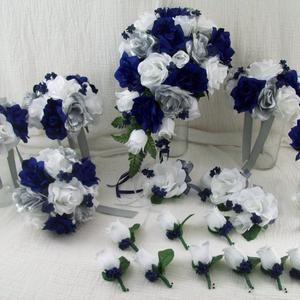 white and silver earrings Earrings drops bunch of flowers flowers Navy trendy 2017 sky blue leaves