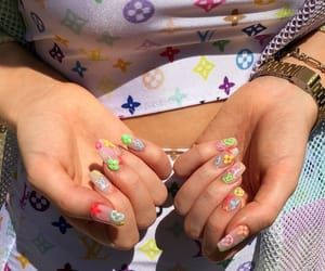 Imagen De Aesthetic Alternative And Bright Cute Nails Pretty Acrylic Nails Nail Designs