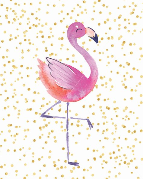 Flamingo Wall Print Flamingo Wall Art Flamingo by ThePrintPuffin