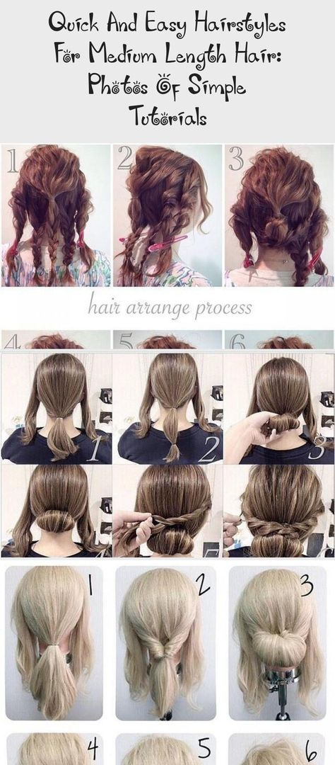 Quick and easy hairstyles for medium length hair: photos of simple tutorials  #hairstyles #length #medium #photos #quick #simple #tutorials #hairstylesformediumlengthhairWavy #hairstylesformediumlengthhairQuick #hairstylesformediumlengthhairAfricanAmerican #hairstylesformediumlengthhairHalfUp #hairstylesformediumlengthhairSummer