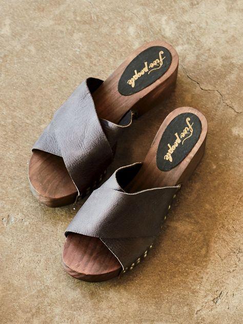 Sonnet Clog | Wooden sandals, Clogs, Shoes