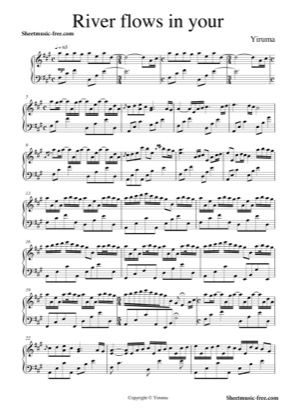 Print And Download For Free River Flows In You Piano Sheet Music
