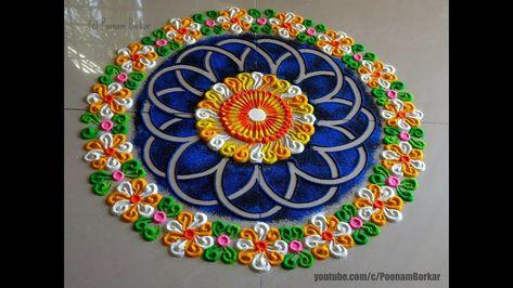 Beautiful and unique rangoli design