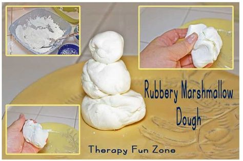 Sensory Activity of the Week: Rubbery Marshmallow Play Dough - pinned by @PediaStaff – Please Visit  ht.ly/63sNt for all our pediatric therapy pins