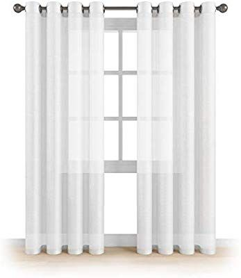Amazon Com Memias Grommet Semi Sheer Luxury 2 Panels Total Wide