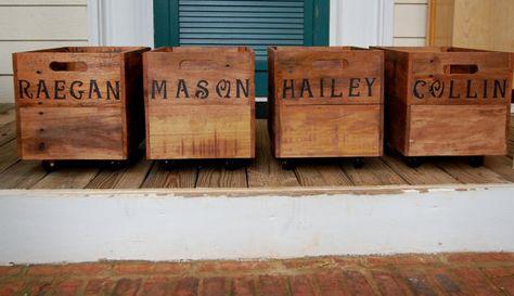 Vintage New Zealand Wooden Apple Crate by inspiritdeco on Etsy - küche aus paletten