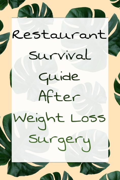 Going Out - How To Enjoy Eating At Restaurants After Weight Loss Surgery Bariatric Eating, Bariatric Recipes, Bariatric Surgery, Sleeve Surgery Diet, Gastric Sleeve Diet, Vertical Sleeve Gastrectomy, Gastric Bypass Surgery, Operation, Restaurants