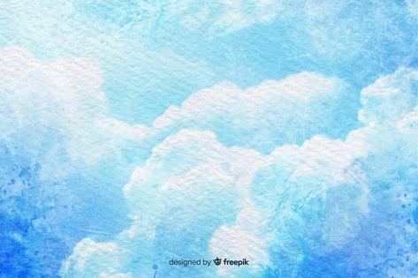 Baixe Ceu Azul Com Aquarela Nuvens Gratuitamente Em 2020